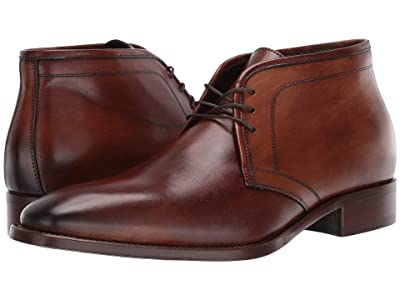 J&M Collection Cormac Chukka (Mahogany) Men