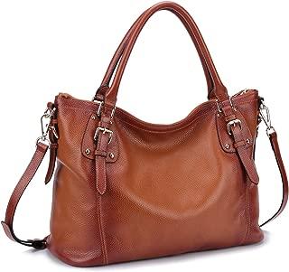 Women's Vintage Soft Genuine Leather Tote Shoulder Bag Top Handle Bag Cross body Handbags Satchel for Ladies