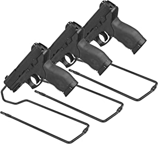 BOOMSTICK Gun Accessories Stand Style Vinyl Coated Metal Handgun Pistol Rack (Pack of 3), Black