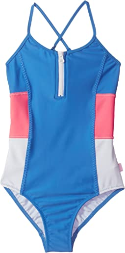 Seafolly Kids - Summer Essential Color Block Tank One-Piece (Little Kids/Big Kids)