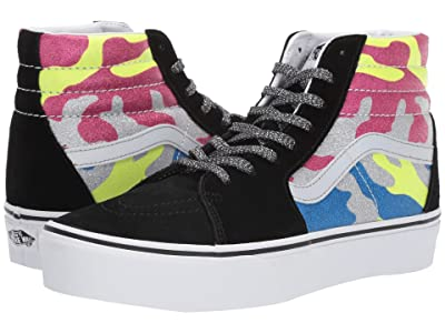Vans SK8-Hi Platform 2.0 ((After Dark) Camo/True White) Skate Shoes