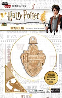 Harry Potter Ravenclaw Emblematics Wood Model Ornament Kit - Build, Paint and Collect Your Own 3-D Ravenclaw House Crest Hanging Ornament - Ages 8+ - 2.25