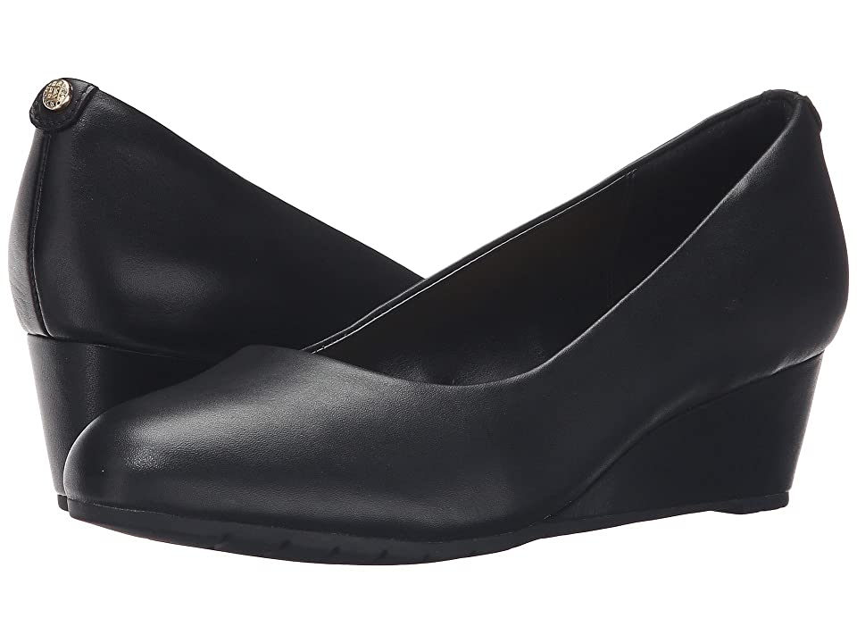 1940s Style Shoes, 40s Shoes Clarks Vendra Bloom Black Leather Womens  Shoes $109.95 AT vintagedancer.com
