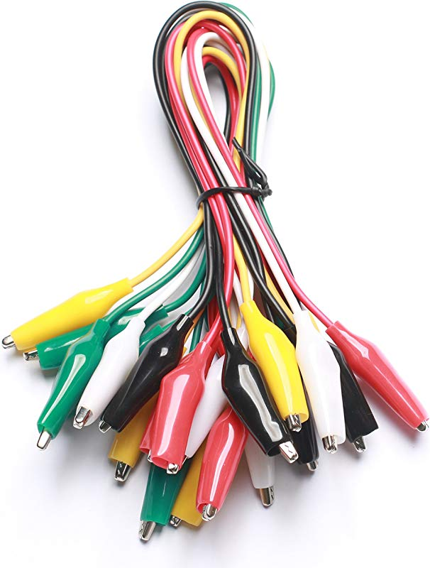 WGGE WG 026 10 Pieces And 5 Colors Test Lead Set Alligator Clips 20 5 Inches 1 PACK