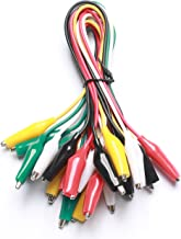 WGGE WG-026 10 Pieces and 5 Colors Test Lead Set & Alligator Clips,20.5 inches (1 PACK)