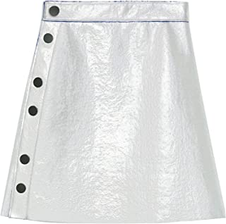 Bimba y Lola Women Short Silver Skirt 192BR4823