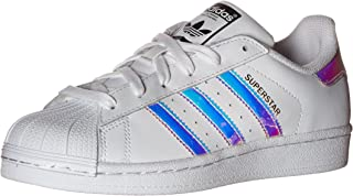 adidas Originals Kids' Superstar, White/White/Metallic Silver, 3.5 M US Big Kid