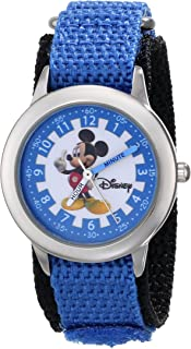 Disney Kids' W000017 Mickey Mouse Stainless Steel Time Teacher Watch