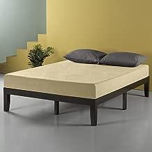 Zinus Mark 14 Inch Wood Platform Bed / No Box Spring Needed / Wood Slat Support / Dark Brown, Full