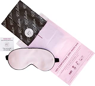 PJ Collective Silk Sleep Mask | Premium 100% Mulberry Silk Eye Mask | Adjustable Strap Sleeping Mask | Eco Gift Wrapped (Pink)