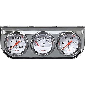 White Dial Face, Chrome Bezel Bosch SP0F000043 Style Line 2 Electrical Voltmeter Gauge