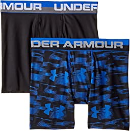 2 Pack UA Blur Boxer Brief (Big Kids)