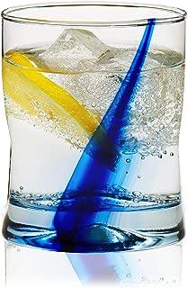 Libbey Blue Ribbon Impressions Rocks Glasses, 12.5-ounce, Set of 4