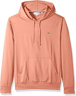 Mens Long Sleeve Hooded Jersey Cotton T-Shirt Hoodie