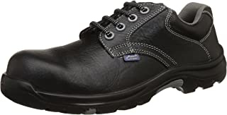 Allen Cooper AC-1427 Heat Resistant ESR Safety Shoe, ISI Marked for IS:15298 Pt-2, PU Midsole NR OutSole, FRP Toe Cap for 200 Joules, Size 9 (Black)