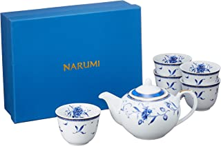 NARUMI(ナルミ) 急須 湯呑み セット ペレーネブルー 6個セット 40721-32714
