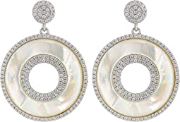 Mother-Of-Pearl Medallion Earrings