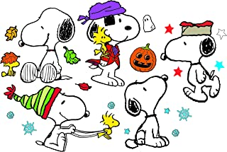 Eureka Classroom Supplies Back to School Snoopy Holiday Poses Bulletin Board Sets, 18''x0.1''x28'', 41 pc.