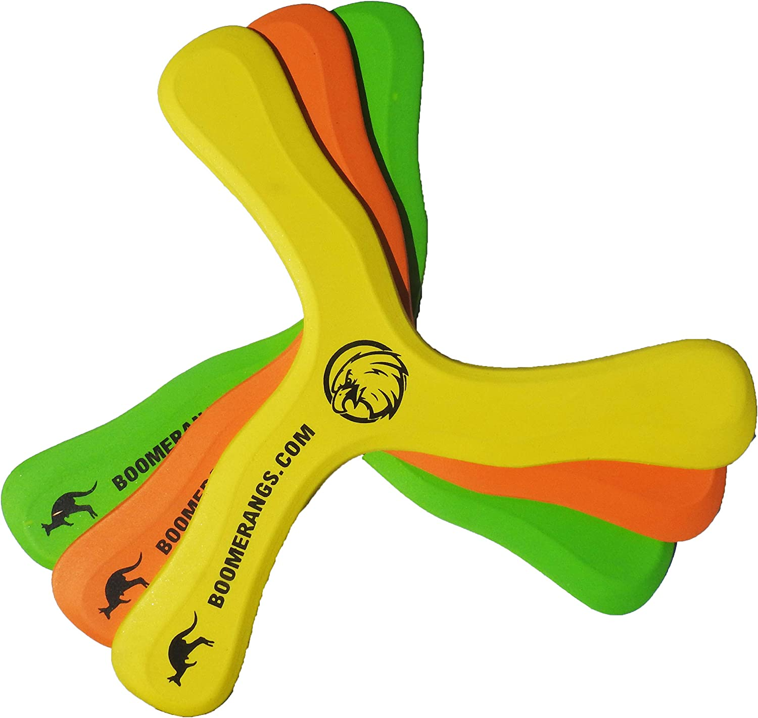 Baloo Boomerang 3 Pack - Easy, Safe Boomerangs for Kids as Young