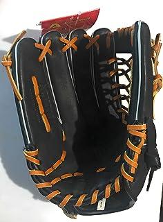 Akadema Prosoft Elite Series Baseball Infielders Gloves, Black/Tan, Right Hand