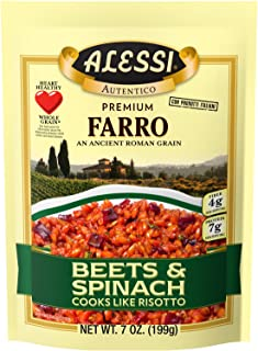 Alessi Beets & Spinach Farro, 7 Ounce (6 Pack)