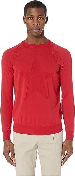 Tonal Star Fine Gauge Sweater