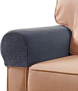 2Pcs Premium Furniture Sofa Arm Rest Covers Anti-slip Couch Arm Protectors UK