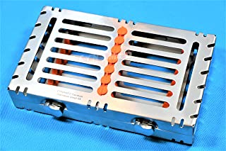 German Stainless 1 Heavy Duty Dental Autoclave Sterilization Cassette Box Tray for 7 Instrument-A+Quality Button Type-Detachable (CYNAMED Brand) …