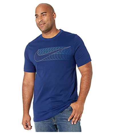Nike Big Tall Dry Tee Dri-FITtm Cotton Alt Swoosh (Blue Void) Men