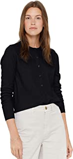 Women's 100% Pure Cashmere Button Front Long Sleeve Crew Neck Cardigan Sweater