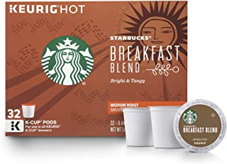 Starbucks Breakfast Blend Medium Roast Single Cup Coffee for Keurig Brewers, 32 Count