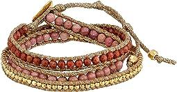 Semi-Precious Stone 3 Wrap Bracelet