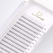 LANKIZ 3D Russian Volume Eyelash Extensions Fans, 0.10mm D Curl 16mm Individual Eyelashes, Natural Rapid Cluster Lashes for Salon and Lash Artist.