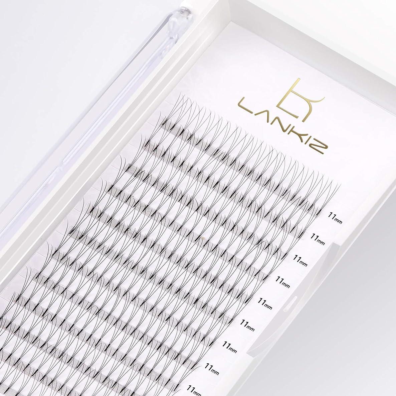ロイヤリティ前売蒸発するLANKIZ まつげエクステ 3D ボリュームまつげ Dカール 太さ0.10 11mm 12列 マツエク(3本束)