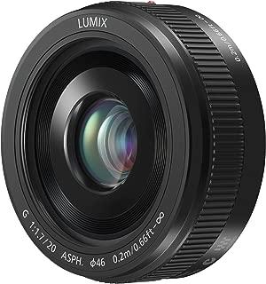 PANASONIC LUMIX G II Lens, 20MM, F1.7 ASPH, MIRRORLESS Micro Four Thirds, H-H020AK (USA Black) (Renewed)