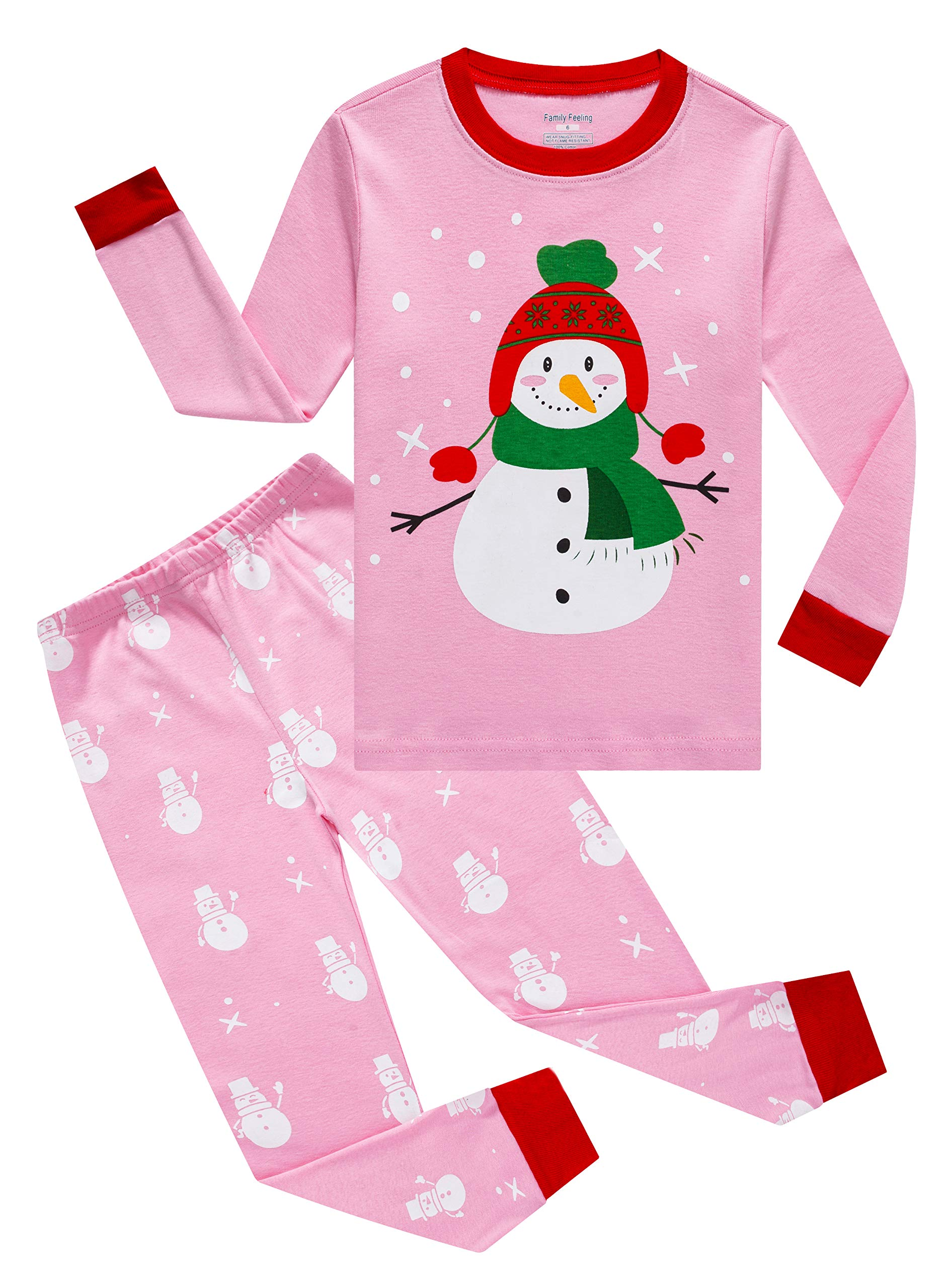 Image of Cute Christmas Snowman Pajamas for Girls and Toddlers - See More