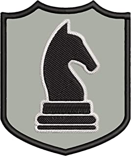 Black Knight Chess Piece 3.5
