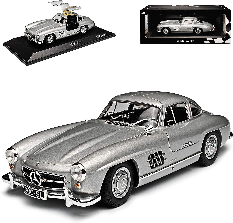 Minichamps Mercedes Benz 300sl Sl Klasse Coupe Silber W198 1954 1963 Flügeltürer Limitiert 600 Stück 1 18 Modell Auto Spielzeug