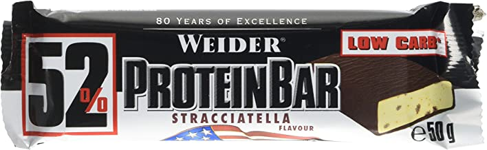 Weider 52 Protein Bar Stracciatella 26g of Protein Low carb Low Sugar 24 bars Estimated Price : £ 39,16