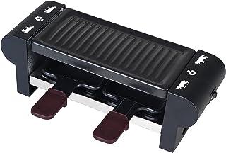comprar comparacion Team Kalorik Aparato raclette y grill para 2 personas, Forme rectangular, 2 palas incluidas, 350 W, Negro, TKG RAC 1007 CS