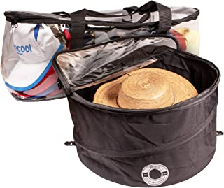 Hat Mate Premium Hat Pop up Storage Free Cap Storage Bag, Large Hat Storage Travel Bag Round Hat Box Container. Hat Case for Baseball Caps.Dirt & Dust Protection