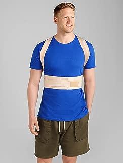 ®BeFit24 Posture Corrector for Men - Made in Europe - Back & Shoulder Support Brace for Kyphosis, Lordosis & Scoliosis - Slouch & Hunchback Correction