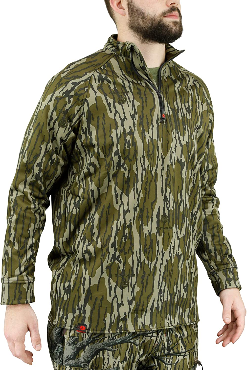 Mossy Oak Camo Hunting free shipping excellence Jacket for Fleece Pullove Quarter Men Zip
