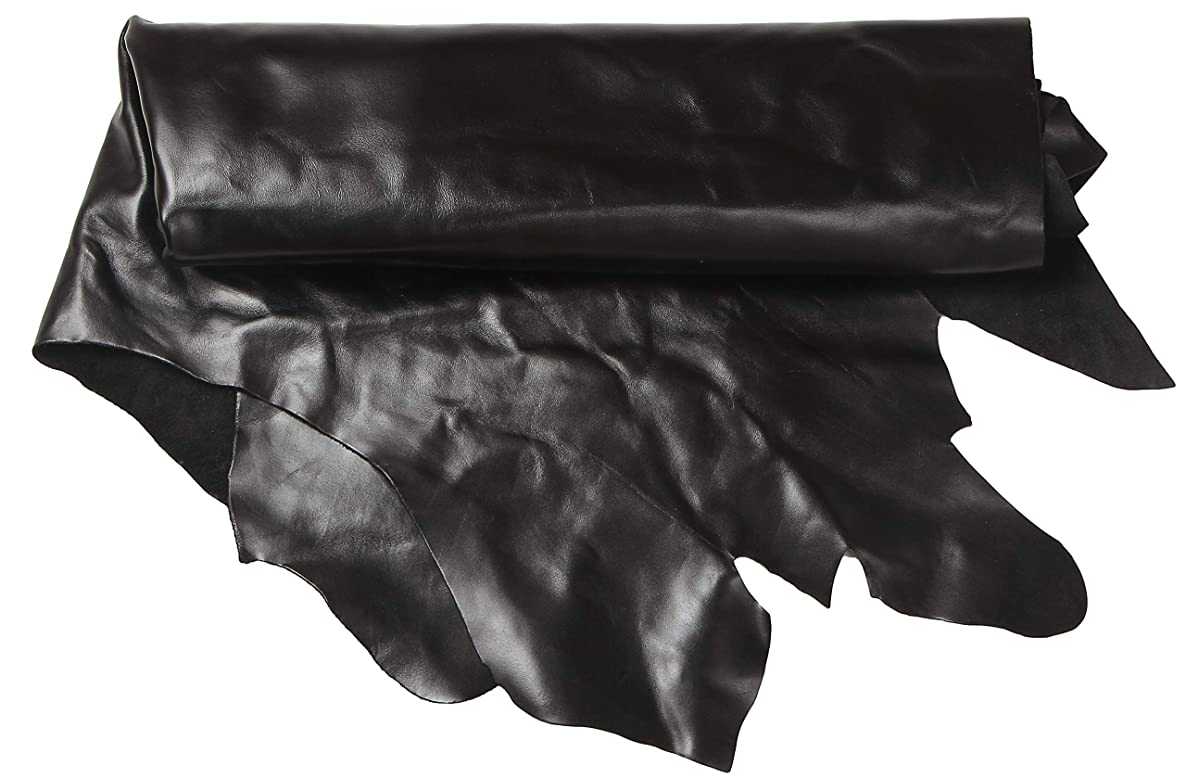 Solid Leather Whole Hide Cow Skin Full Side 15-24 sq.ft One Piece 3-4 oz Thickness All Natural Full Grain Leather (Black(4oz)-1.6mm, Full Side 15 sq.ft.)