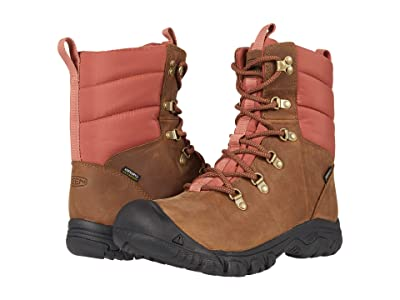 KEEN Greta Waterproof Boot (Toasted Coconut/Redwood) Women