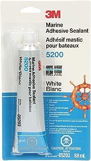 3M Marine Adhesive Sealant 5200, PN05203, White, 3 oz Tube
