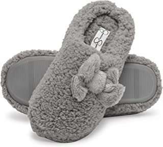 Jessica Simpson Women's Plush Marshmallow Slide on House Slipper Clog with Memory Foam