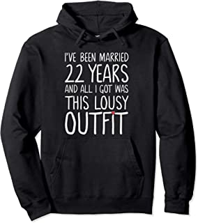 22 Years Wedding Anniversary Gift Idea for Him & Her Couples Pullover Hoodie
