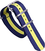 Colorful Classic Stylish Nylon NATO Style Watch Straps Bands Replacements for Men Women