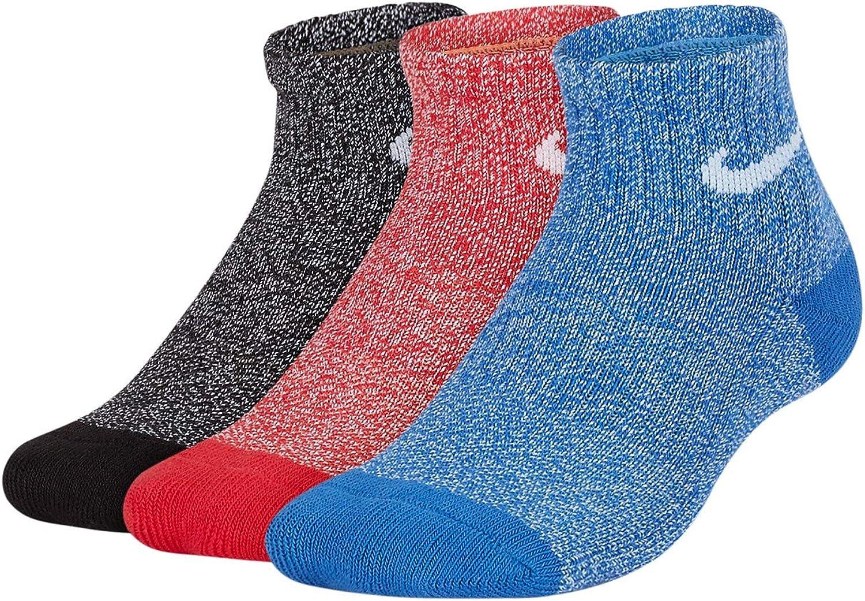 Nike Kid`s Performace Cushioned Quarter Socks 3 Pack
